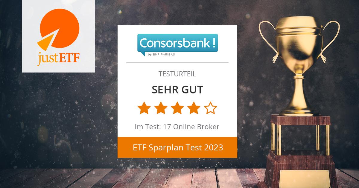 Consorsbank ETF Sparplan-Angebot Im Test