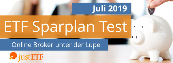 Neues Video: ETF Sparplan Test Juli 2019