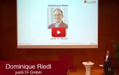"""""""ETFs werden immer besser"""": Dominique Riedl von justETF auf der Veranstaltung """"Finanzgespräche"""""""